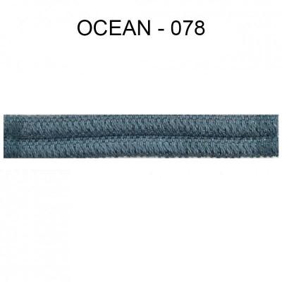 Double passepoil étroit 8 mm 43 IDF - Ocean 078