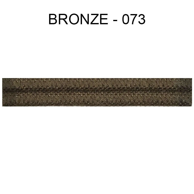 Double passepoil étroit 8 mm 43 IDF - Bronze 073 - Passementerie