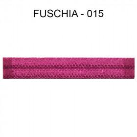 Double passepoil étroit 8 mm 43 IDF - Fuschia 015 - Passementerie