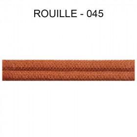Double passepoil étroit 8 mm 43 IDF - Rouille 045 - Passementerie