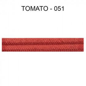 Double passepoil étroit 8 mm 43 IDF - Tomato 051 - Passementerie