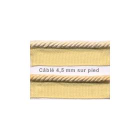Câblé sur pied 4.5 mm les unis le mètre 52 coloris