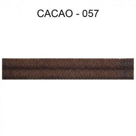 Double passepoil étroit 8 mm 43 IDF - Cacao 057 à 5,88 €