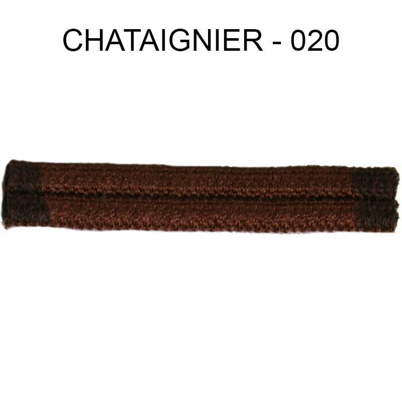 Double passepoil étroit 8 mm 43 IDF - chataignier 020 - Passementerie