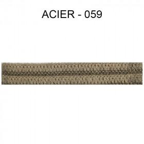 Double passepoil étroit 8 mm 43 IDF - Acier 059 - Passementerie