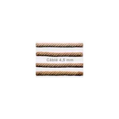 Câblé 4.5 mm - les unis - le mètre 52 coloris