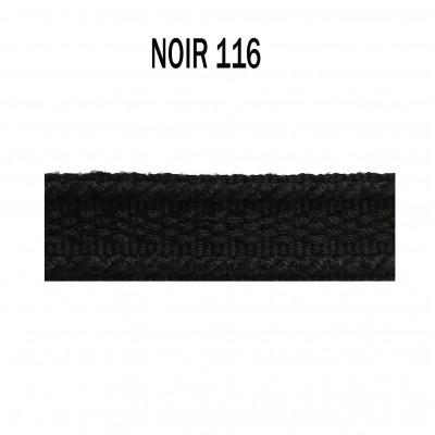 Galon chaînette 15 mm 116 Noir