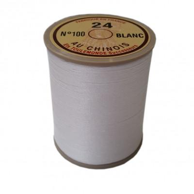 Fil de lin au chinois retors n°24 extra glacé - Blanc 100