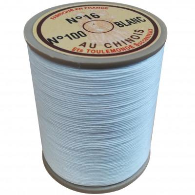 "Fil de lin 16 blanc 100 ""Au Chinois"" - bobine de 160 mètres"