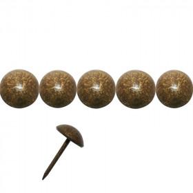 1000 Clous tapissiers FAM Bronze doré 14 mm - Lentille Fer - Clous tapissier