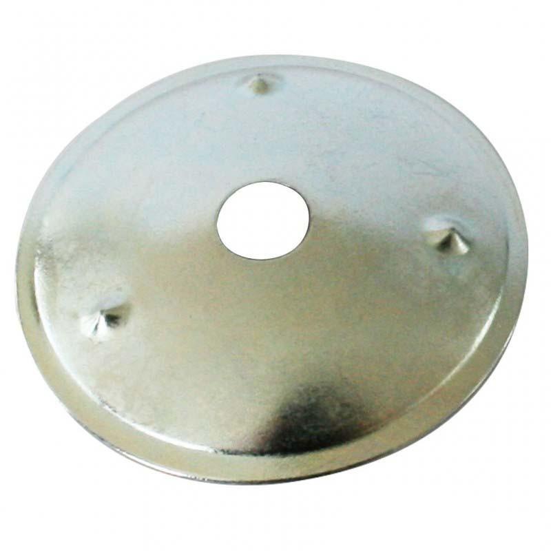 Rondelle de renfort Ø28mm ASTOR, acier, finition nickelé - Mercerie