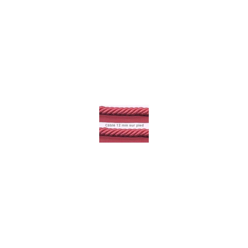 Câblé sur pied 12 mm les unis le mètre 52 coloris - Passementerie
