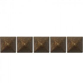 100 Clous tapissiers Louis XIII Vieilli Bronze 14x14 - Clous tapissier