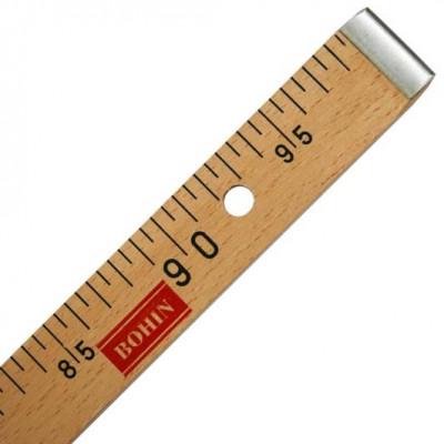 Règle de couturière en bois BOHIN - Qualité supérieure 1m