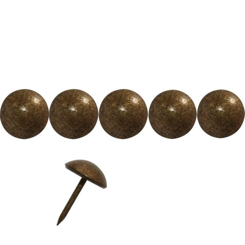 """500 Clous tapissier \\""""Ivry\\"""" Vieilli Bronze Doré 18 mm - Clous tapissier"""