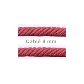 Câblé 8 mm - les unis 52 coloris - le mètre - Passementerie