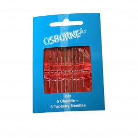 Assortiment d'aiguilles pour cuir Osborne K12 - Gros chat - Mercerie