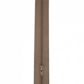 Fermeture à glissière beige 4 mm, le mètre - Mercerie