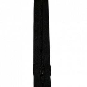 Fermeture à glissière noir 4 mm, le mètre - Mercerie