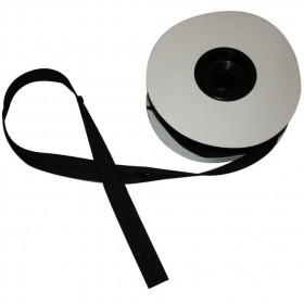 Fermeture à glissière noir 4 mm, les 25 mètres - Mercerie