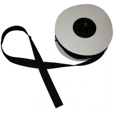 Fermeture à glissière noir 4 mm, les 25 mètres