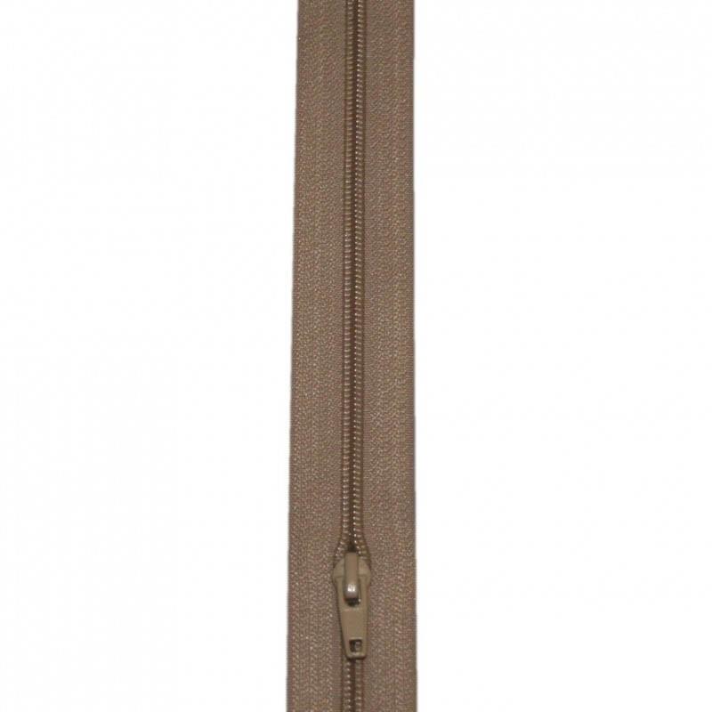 Fermeture à glissière beige 5 mm, le mètre - Mercerie