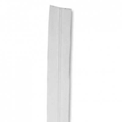 Fermeture à glissière blanc 5 mm, le mètre
