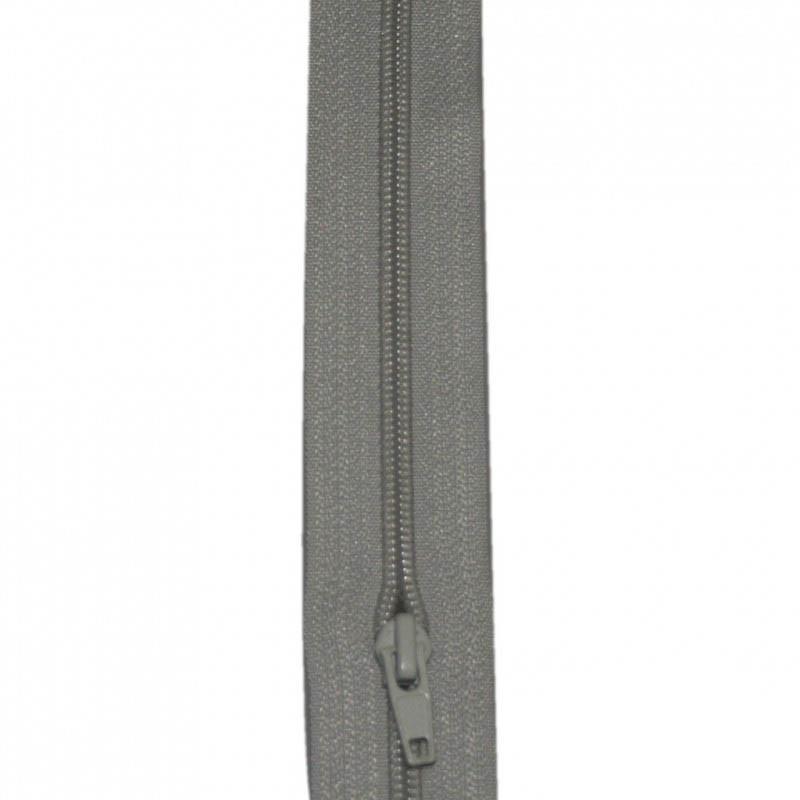 Fermeture à glissière gris clair 5 mm, le mètre - Mercerie