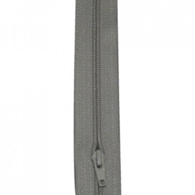 Fermeture à glissière gris clair 5 mm, le mètre