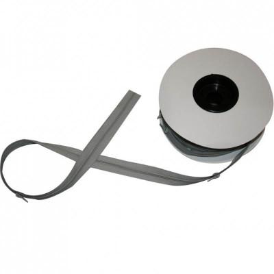 Fermeture à glissière gris clair 5 mm, les 25 mètres