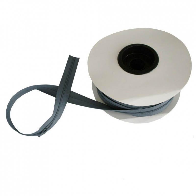 Fermeture à glissière gris fer 5 mm, les 25 mètres - Mercerie