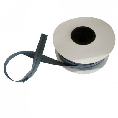Fermeture à glissière gris fer 5 mm, les 25 mètres