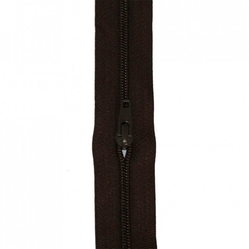 Fermeture à glissière marron brun 5 mm, le mètre - Mercerie