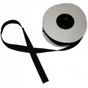 Fermeture à glissière noir 5 mm, les 25 mètres - Mercerie