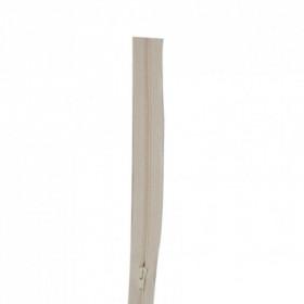 Fermeture à glissière écru 4 mm, le mètre - Mercerie