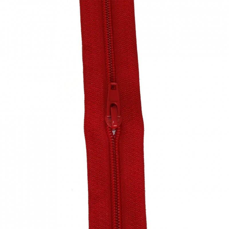 Fermeture à glissière rouge vif 5 mm, le mètre - Mercerie