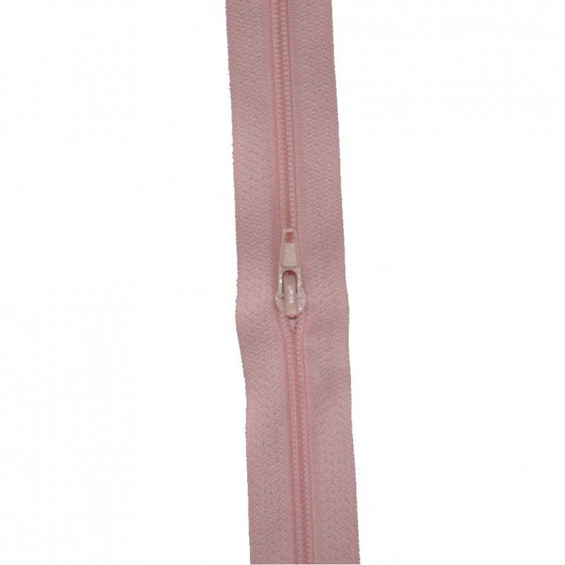Fermeture à glissière rose 5 mm, le mètre - Mercerie