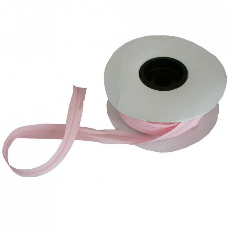 Fermeture à glissière rose 5 mm, les 25 mètres - Mercerie