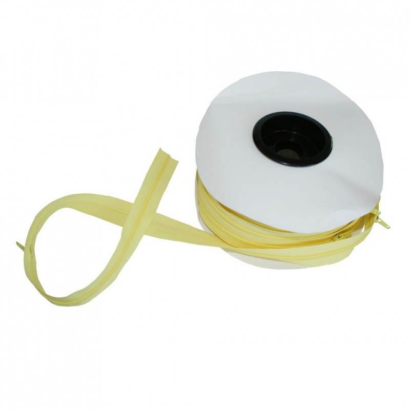 Fermeture à glissière jaune 5 mm, les 25 mètres - Mercerie