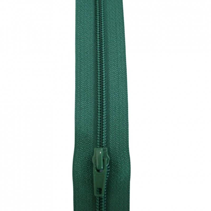 Fermeture à glissière vert 5 mm, le mètre - Mercerie