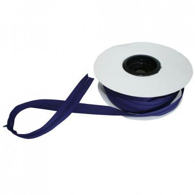 Fermeture à glissière bleu violet 5 mm, les 25 mètres - Mercerie