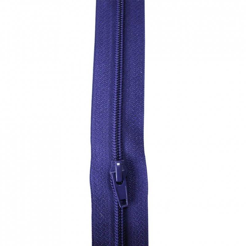 Fermeture à glissière bleu violet 5 mm, le mètre - Mercerie