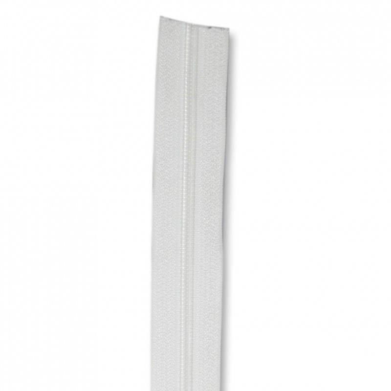 Fermeture à glissière blanc 6 mm, le mètre - Mercerie