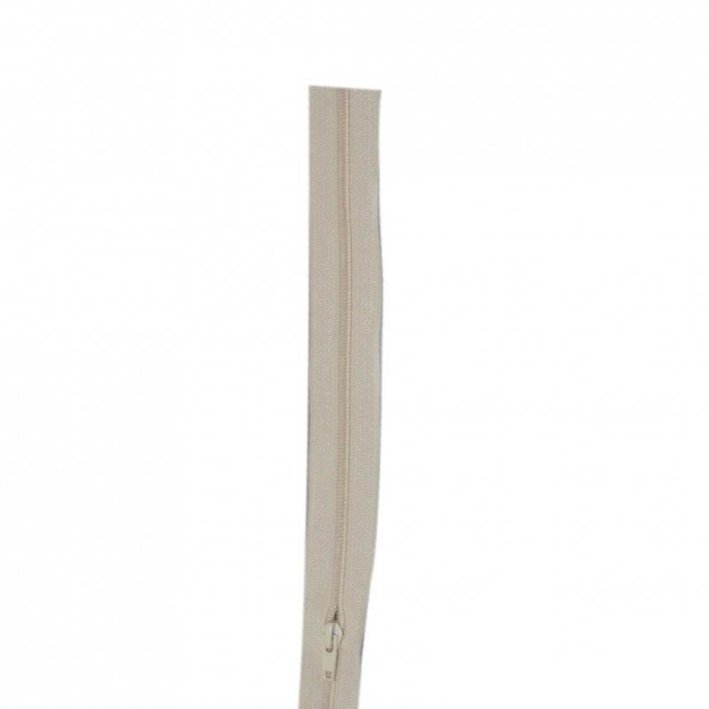 Fermeture à glissière écru 6 mm, le mètre - Mercerie