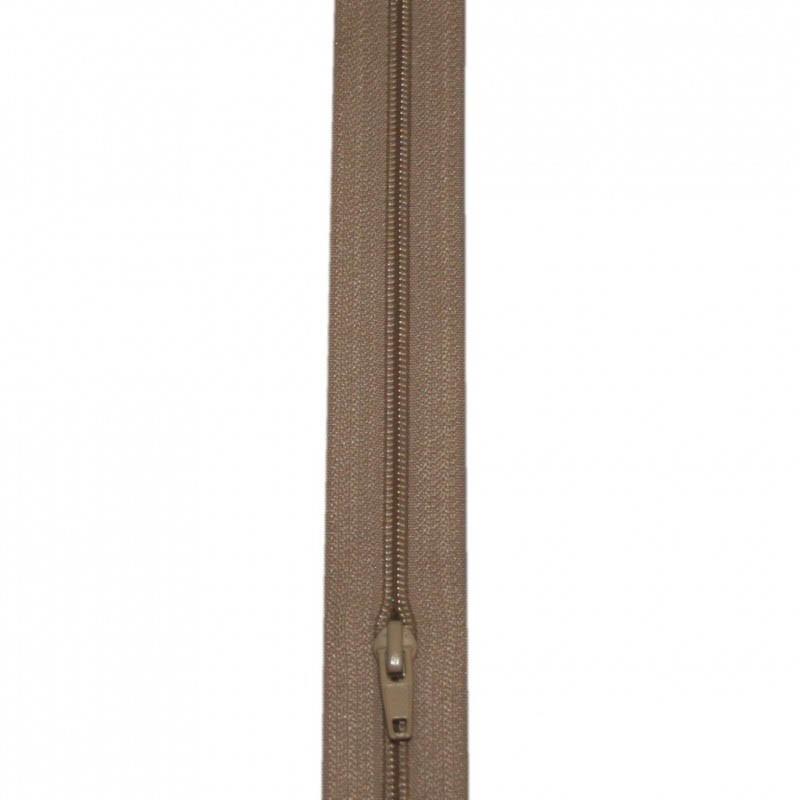 Fermeture à glissière beige 6 mm, le mètre - Mercerie