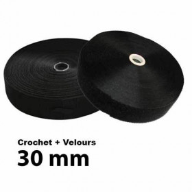 Lot Ruban accrocheur à coudre 30mm - Crochet + Velours à 37,90 €