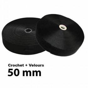 Lot Bande auto-agrippante à coudre 50mm - Crochet + Velours - Mercerie