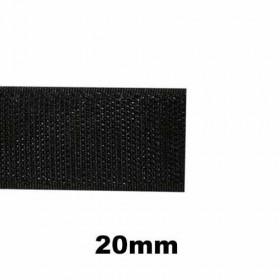 Bande auto-agrippante à coudre noir, crochet 20mm - 1m - Mercerie