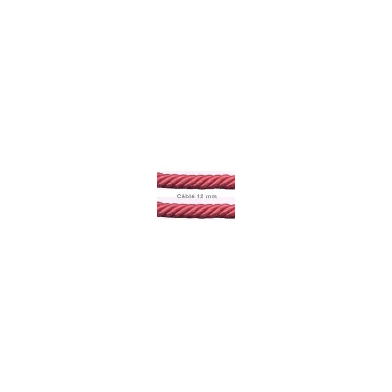 Câblé 12 mm - les unis 52 coloris - le mètre - Passementerie