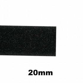 Bande auto-agrippante à coudre noir, velours 20mm - 1m - Mercerie